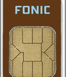 Simkarte FONIC in braun