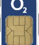 Simkarte O2 in hellblau