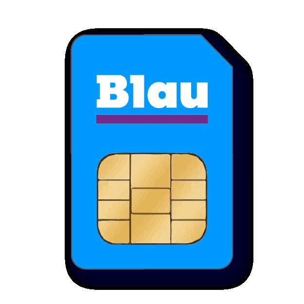 Blau M Prepaid SIM-Karte
